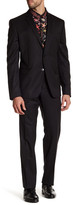 Versace Notch Lapel Two Button Solid Wool Suit