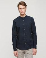 Micro Dot Grandad Slim Shirt