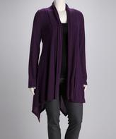 Canari Purple Jasmin Open Cardigan - Plus