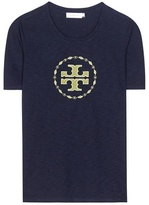 Tory Burch Demi Embroidered Cotton T-shirt