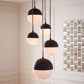 Rejuvenation Cedar + Moss Chandelier: Round Canopy - Oil Rubbed Bronze