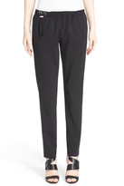 Anthony Vaccarello 'Classic' Elastic Waist Stretch Wool Pants