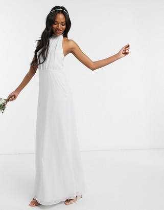 Maids To Measure bridesmaid high neck maxi dress in chiffon