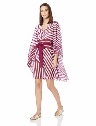 Gottex Women's Waist Tie High Neck Caftan Swimsuit Cover Up