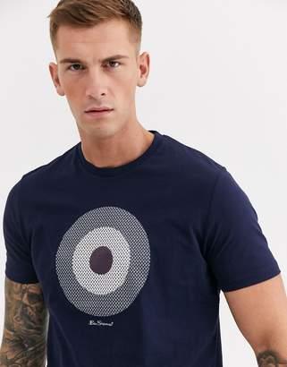 Ben Sherman Large Check Target T-Shirt-Navy