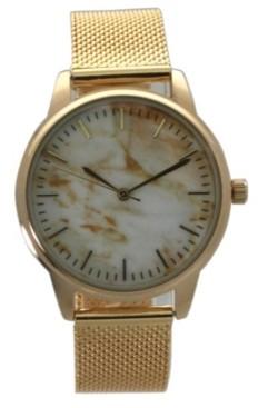 Olivia Pratt Marble Mesh Band Watch