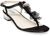 Betsey Johnson Olive Floral T-Strap Sandal