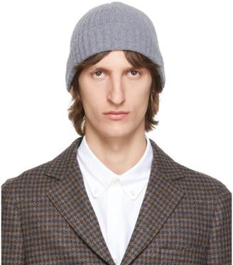Officine Generale Grey Wool Supersoft Beanie