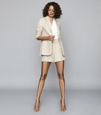 Reiss Lauren - Wool Linen Blend Blazer in Oatmeal