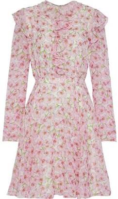 Giambattista Valli Ruffle-trimmed Floral-print Silk-georgette Mini Dress