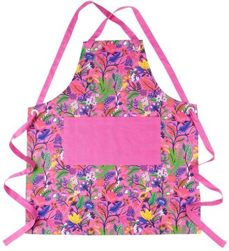 Ambrosia Aster Cotton Cooking Apron 80 x 68cm Pink Floral