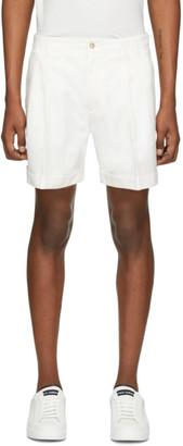 Dolce & Gabbana White Cuffed Shorts