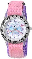 Disney Girl's 'Palace Pet' Quartz Plastic and Nylon Watch, Color:Pink (Model: W002845)