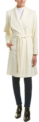 Sofia Cashmere Sofiacashmere Belted Wool-Blend Wrap Coat