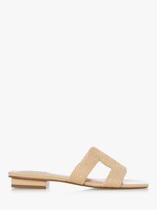 Dune Libi Slip-On Sandals, Natural