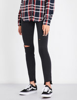 Paige Hoxton ankle stepped-hem skinny mid-rise jeans