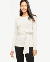 Ann Taylor Belted Crewneck Sweater