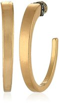 Kenneth Cole New York Pave Sculptural Hoop Earrings