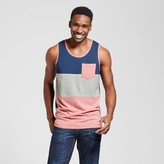 Mossimo Men's Vented Hem Tank with Pocket Red Heather