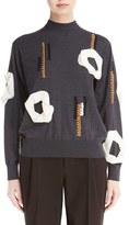 Toga Women's Applique Mock Neck Sweater