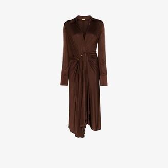 Dodo Bar Or deep V-neck dropped waist midi dress