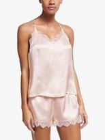 John Lewis & Partners Katia Camisole And Short Silk Pyjama Set, Pale Pink