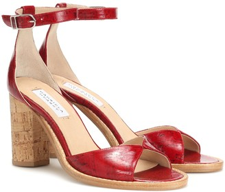 Gabriela Hearst Adi leather and cork sandals