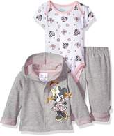 Disney Baby Girls' Minnie Mouse 3 Piece Bodysuit OR T-Shirt, Hoodie, Pant Set