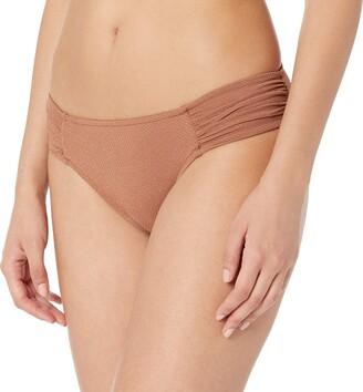 Seafolly Women's Ruched Side Retro Bikini Bottom Swimsuit