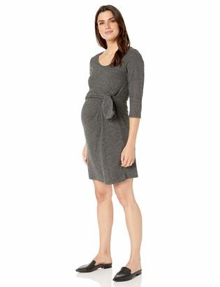 Maternal America Women's Faux Wrap Maternity Dress