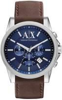 Armani Exchange Chronograph Watch Dunkelbraun