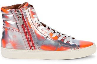 Bally High-Top Patent Leather Sneakers