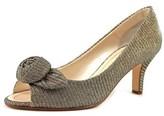 Caparros Willamena Women Peep-toe Canvas Bronze Heels.