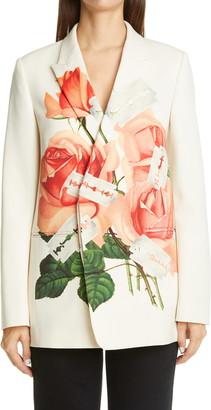 Undercover Rose Print Wool Blazer