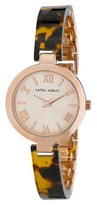 Laura Ashley Ladies Resin Link Watch - Tortoise/ Rose Gold