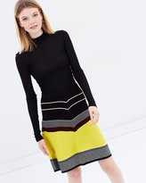 Maison Scotch A-line Structured Knit Skirt