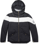 Moncler Gamme Bleu Striped Shell Jacket
