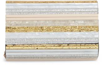 Kurt Geiger Stripe Envelope Clutch