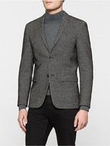 Calvin Klein Mesh Textured Fitted Blazer