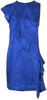 Diane von Furstenberg Cross Body Ruffle Dress