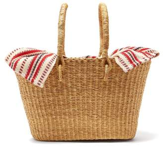 Muun Claudia Mini Straw Basket Bag - Womens - Red Multi