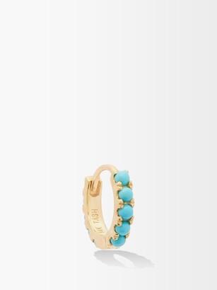Maria Tash Eternity Turquoise & 18kt Gold Single Earring - Yellow Gold