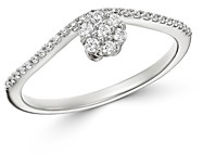 Bloomingdale's Cluster Diamond Chevron Ring in 14K White Gold, 0.20 ct. t.w. - 100% Exclusive