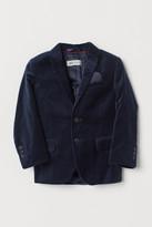 H&M Cotton Velvet Blazer