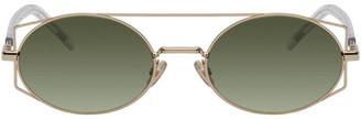 Christian Dior Gold Architectural Sunglasses