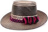 Yosuzi Cream & Black Adina Straw Hat