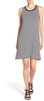 Splendid Women's Stripe Drape Racerback Dress