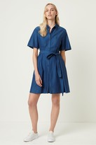 French Connection Leila Ixie Lyocell Button Shirt Dress