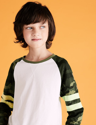 Marks and Spencer Cotton Arm Band Top (6-16 Yrs)