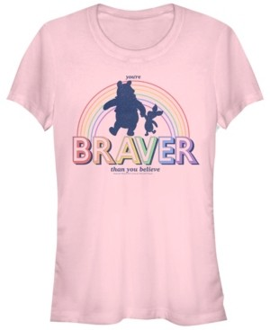 Fifth Sun Women's Winnie the Pooh Brave Bear Short Sleeve T-shirt